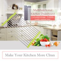 Home Steel Wall Mount Dish Drying Rack Draining Dish Rack, peut stocker divers fruits et légumes, plats et poêles.
