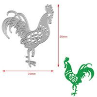 Wholesale Rooster Craft - 1 Pcs Rooster Metal Cutting Dies Stencils DIY Scrapbooking Album Carbon Steel Die Cuttings Home Decorative Crafts