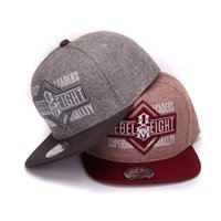 Wholesale Snapback Adult Hats - Wholesale- High quality wool flat bill hiphop hats 3D embroidery adult adjustable snapback caps for men and women