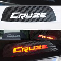 Wholesale Chevrolet Cruze Tail - High Mounted Stop Brake Lamp Light 3D Carbon Fiber Stickers And Decals Car-Styling For Chevrolet Cruze Accessories