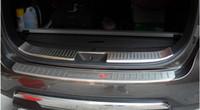 paslanmaz çelik kopçalar toptan satış-Paslanmaz Çelik KIA Sorento 2013 2014 için Fit Arka Tampon koruyucu koruyucusu footplate Kapı Eşiği Plaka Itişme aksesuarları