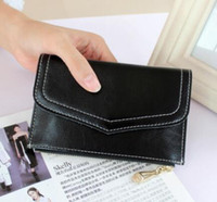 Wholesale Slim Wallet Lady - Slim short zipper bag Women's letter wallet Mini wallet New ladies