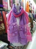 Wholesale Pashminas Pendants - 90cm*200cmDark Grain Beads Women Pendant Scarf Neck gradient scarf Famous brand designer long scarf women's silk scraves,100% Top grade silk