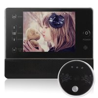 Wholesale Digital Door Viewer Peephole Wireless - Door Viewer 3.5 inch home Digital LCD Screen Door Peephole Viewer Phone System Doorbell Access Control Free Shipping