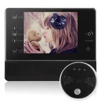 visor digital de puertas lcd al por mayor-Visor de la puerta, 3.5 pulgadas, pantalla LCD digital para el hogar, mirilla, mirilla, sistema de teléfono, timbre, control de acceso, envío gratis