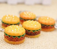 Wholesale Wholesale Snack Cakes - 2017NEW ARRIVED Simulation food snack dessert food hamburger cake key pendant
