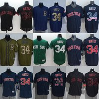 Wholesale Personalized Flags - Factory Outlet Personalize Men's Women's Kid's Boston Red Sox 34 David Ortiz Blue Flag Green Flex Base Cool Base Hot Sale Baseball Jerseys