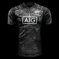 Wholesale Flash Big - big size 4xl 5xl Hot sales New Zealand Maori All Blacks 2017 2018 NSW BLUES Welsh holden jersey Maroons Rugby Jerseys All Black t shirt
