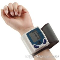 Automatic blood measure monitor - 2016 New pc Digital LCD Wrist Cuff Arm Blood Pressure health monitors Heart Beat Rate Pulse Measure Meter health care Machine