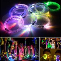 Acrylique Glitter Glow Flash Light Sticks LED Cristal Gradient Couleur main Ring Bracelet Bracelet créativité Dance Party Supplies Toy F2017238