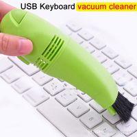 Wholesale Keyboard Brush Screen Cleaner - USB Keyboard Vacuum Cleaner Mini Digital Camera Vacuum Cleaner Mobile Phone Computer Monitor Keyboard Dust Home Repair Tool Mini DHL