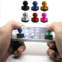 Wholesale Toy Touch Screen Phones - Mini Mobile Joystick Tactile Game Controller Smartphone Touch Screen Android Device Cell Phone Sucker Joystick Controllers for iphone 8 7