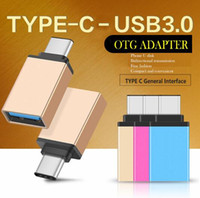 Wholesale Usb Otg Data - Metal USB 3.1 Type C OTG Adapter Male to USB 3.0 A Female Converter Adapter OTG Function for Macbook Google Chromebook