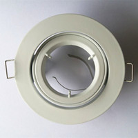 luz do elenco venda por atacado-3 Polegadas De Alumínio Fundido MR16 GU10 Teto Holofotes Suporte de Montagem Recesso Para Baixo Luminária com acabamento em Níquel Escovado Branco
