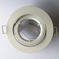 luz fundida al por mayor-3 pulgadas de aluminio fundido a presión MR16 GU10 Proyector de techo Soporte de montaje Empotrable Luminaria empotrable con acabado de níquel cepillado blanco