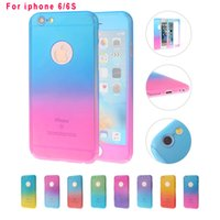 Wholesale Iphone Body Price - Factory Price Full Body 360 Degree Protective Case Front Back Cover With Tempered Glass Screen Protector For iphone 5 6 6S 7 Plus