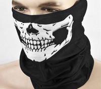 Wholesale Motorcycle Mask Dhl - DHL Freeshipping Skull Design Multi Function Bandana Ski Sport Motorcycle Biker Scarf Face Masks
