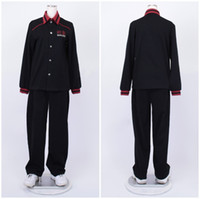 Wholesale Custom School Uniforms - Kuroko No Basketball (Kuroko's Basketball) Aomine Daiki black long sleeve jersey Touou High School uniform cosplay