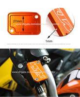 ktm vorne großhandel-Orange Motorrad vorne Bremspumpe Flüssigkeit Behälterdeckel Abdeckung modifizierte Teile für KTM DUKE 200 390 690 990 2014 2015