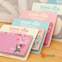Self-Adhesive ss items - Creative New little red girl version memo Notepad Note book memo pad Sticky notes Novelty items SS