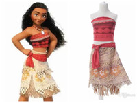 Wholesale Dress Costume Kids - 2017 Summer Sleeveless Dress Moana Cosplay Costume Polynesia Carnival Halloween Easter Mother&kids Princess Girl Dress