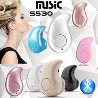 Wholesale Wireless Headsets For Laptops - Mini Wireless Bluetooth 4.0 STEREO In-Ear S530 Earphone Headphone Headset For iPhone laptop notebook computer Black