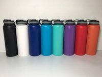 Wholesale Drinking Bottles - 32oz 40oz Vacuum water bottle Insulated 304 Stainless Steel Water Bottle Wide Mouth big capacity travel water bottles