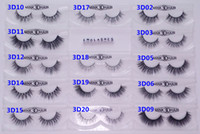 Wholesale Eyelashes Pairs - 13-16mm 1 Pair box OEM&Private Logo Acceptable Real 3D Mink Hair Fur Eyelashes Messy Eye lash Extension Sexy Eyelash Full Strip Eye Lashes