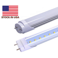 "Wholesale Wholesale T8 Fluorescent Light Fixtures - 4ft led t8 light tubes 22w LED Tube usa Lamps 50w Fluorescent Replacement 48"" 1200mm SMD2835 Energy Saving Light Fixture Daylight"