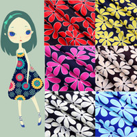 Wholesale Digital Printed Silk Chiffon Fabric - 1.5M Width 5Metres Cartoon Floral Pattern Silk Chiffon Fabric For Sewing Dress Shirt Tulle Digital Print Silk Fabric For Dress