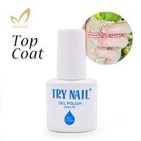 Wholesale Nail Polish Promotions - Wholesale- TRY NAIL New Arrival Promotion 6ml   pcs Long Lasting Base Gel Soak Off Top Coat No Wipe Top Gel Base Coat Professional Lacquer