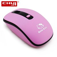 Wholesale Mini Mause - Wholesale- CHYI Wireless Hello Kitty Mouse 2.4ghz Optical Computer Mice Adjustable 1600DPI Mini Mause Mouse sem fio For Gamer Kids Gift