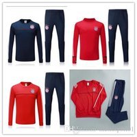 Wholesale Football Training Kits - Top quality 2017 2018 Munich jacket Training suit kits soccer Jersey 17 18 new TRACKSUIT VIDAL LEWANDOWSKI MULLER ROBBEN football kit