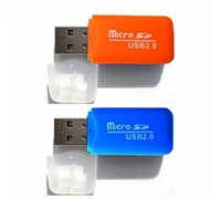 High Speed ​​Mini plastica 2.0 mini micro SD T-Flash di TF della scheda di memoria USB Adapter Reader per lettore di memory card PC Computer