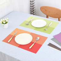 Wholesale PVC Table Mat Heat insulated Tableware Easy Clean Western Dinner Bowl Placemat Kitchen Pad Color cm