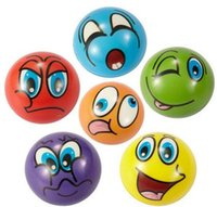 Wholesale Emoji Face Squeeze Balls Soft PU Relieve Stress Novelty Relax Toys Assorted Expression