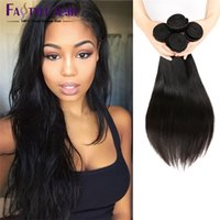 Wholesale Cheap Real Hair Pieces - Top Quality Cheap Brazilian Hair Bundles Real Malaysian Indian Peruvian Straight Hair Weaves for Black Women Human Braiding Hair Extensions