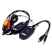 Wholesale Wireless Camera Av Transmitter - 2.4Ghz Wireless RCA AV Video Transmitter Receiver for car Rear View Camera Monitor Auto DVD MP5 Player