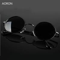 brillenauslass großhandel-Großhandel Gothic Steampunk Männer Polarisierte Sonnenbrille Factory Outlet Round Circle Outdoor Sonnenbrille Retro Vintage Eyewear Googgle Neu