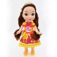 Wholesale rubber dolls sale resale online - hot sale lovely doll Belle dolls cm the princess dolls with beautiful coloth girls party love cute kids gift lovely dolls