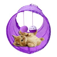 Wholesale Pet Tunnels Cats - Outdoor Cat Tunnel Fabric Pet Tent Tool Cat Tunnel Passageway machine washable wipe clean Cat Favor With Ring Bell 45 x 22cm