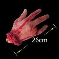 Wholesale Halloween Severed Hand - Wholesale-1Pc Novelty Scary Severed Bloody Fake Latex Hand Toy Life-size Hand Halloween Horror Props toy