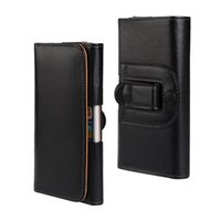 Wholesale General Wallet Leather Case - General Wallet Case For 5.5'' 4.7'' For Iphone X 7 8 Plus Sony LG Galaxy S8 Plus Note8 Leather Clip Case Horizontal Holster Flip Pouch
