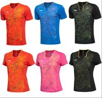 Li Ning badminton Shirt Shorts vêtements, nouveaux hommes / femmes chinois Dragon Jersey, polyester séchage rapide tennis tshirt, doublure Badminton T-shirts AS69