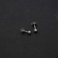 Wholesale Cheap Black Studs Earrings - Cheap Price 4-5mm AAAA+ Quality Fresh Water Pearl Studs 100% Genuine 925 Sterling Silver Earrings Rhodium Yellow Plated For Woman 8 Colors