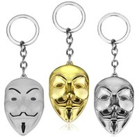 Wholesale Leather Face Mask Ball - Good A++ Pendant mask key holder personalized creative gifts KR291 Keychains mix order 20 pieces a lot
