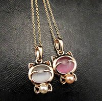 Wholesale Cat Litter Wholesale - Brand new Student cat pendant cat litter short paragraph clavicle chain new jewelry WFN464 (with chain) mix order 20 pieces a lot