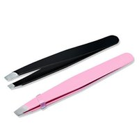 Wholesale new makeup tools for sale - New Lady Eyebrow Tweezers Hair Removal Stainless Steel Beauty Slant Tip eyebrow clip Makeup Tool