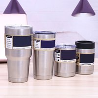 Wholesale Wholesale Business Logos - 2017 new Stainless Steel 30oz Tumblers business gift Cars Beer Cups silver color custom made logo Large Capacity Tumblerful Mugs wholesale