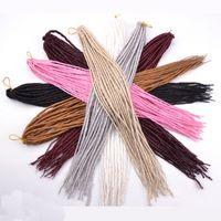 "Wholesale Beauty Braids - Beauty Hard Dreadlocks Hair Extensions 22"" 24strands 100g pack Synthetic Crochet Locs Braids for Black Women"